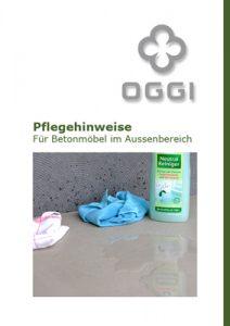 OGGI-Beton: Pflegehinweise für Betonmöbel im Außenbereich