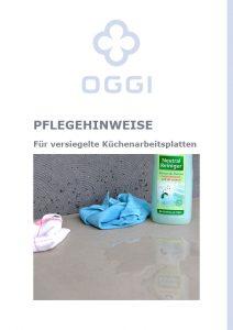 OGGI-Beton: Küchen – Pflegehinweise
