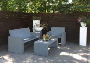 Gartenmöbel Messina Sessel Bank und Tisch
