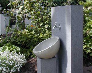 OGGI-Beton: Gartenwaschbecken KAYA