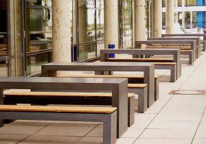 Betontisch und Bank OGGI-Beton: Betonmöbel