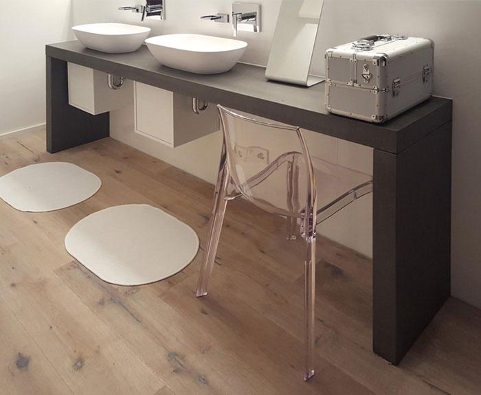 OGGI-Beton: Waschtischplatte