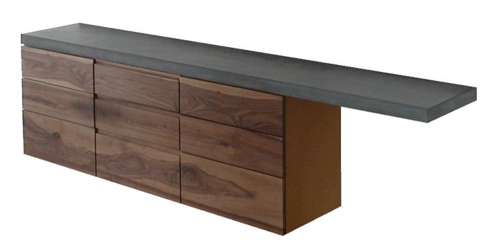 OGGI-Beton: Wohnen mit Betonmöbeln – Sideboard