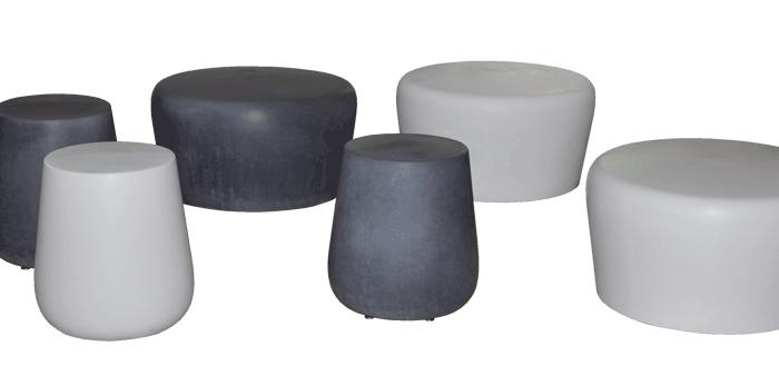 OGGI-Beton: Brandschutzmöbel, Beton-Sitzhocker