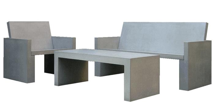OGGI-Beton: Brandschutzmöbel, Lounge-Sessel