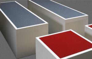 Sitzwürfel mit Filzauflage von Oggi-Beton