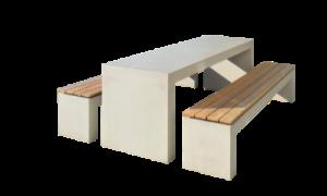 Beton Tisch und Bank Kombination von Oggi-Beton