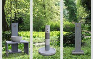 Wasserzapfstelle aus Beton im Garten von Oggi Beton